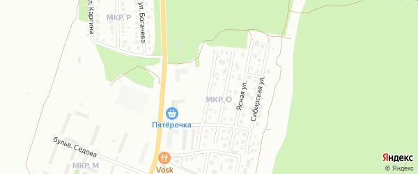 Академическая улица на карте Миасса с номерами домов