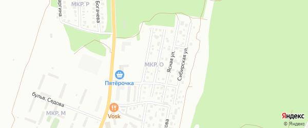 Сад СНТ Солнечная Поляна на карте Миасса с номерами домов