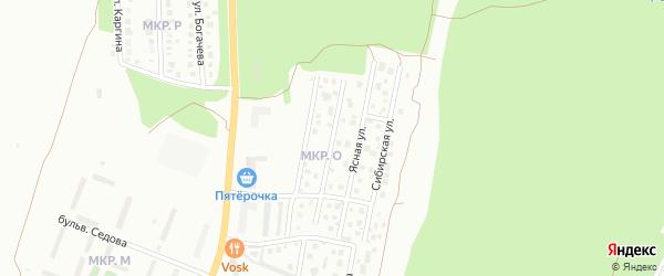 Отрадная улица на карте Миасса с номерами домов
