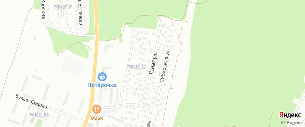 Ясная улица на карте Миасса с номерами домов