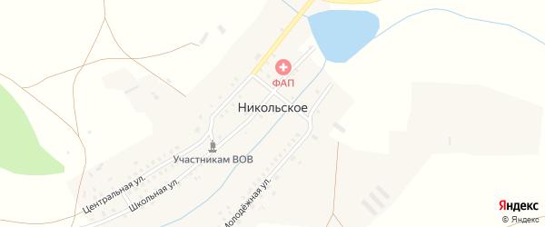 Центральная улица на карте Никольского села с номерами домов
