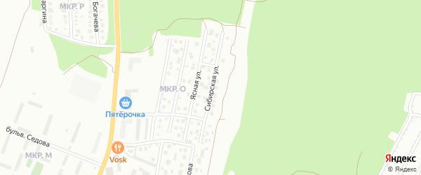 Сибирская улица на карте Миасса с номерами домов