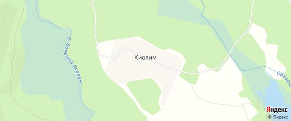 Карта поселка Киолима города Карабаша в Челябинской области с улицами и номерами домов