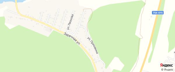 Улица Пришвина на карте поселка Северные Печи с номерами домов