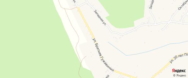 Улица Братьев Гужавиных на карте Карабаша с номерами домов