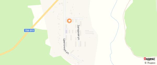 Западная улица на карте поселка Строителея с номерами домов