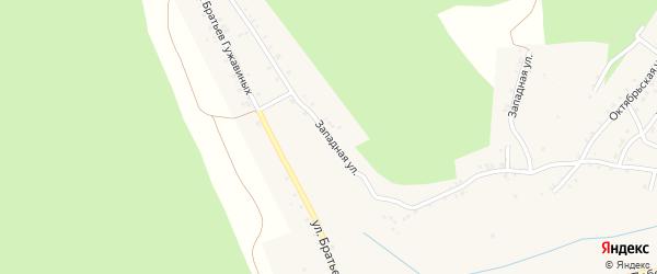 Западная улица на карте Карабаша с номерами домов
