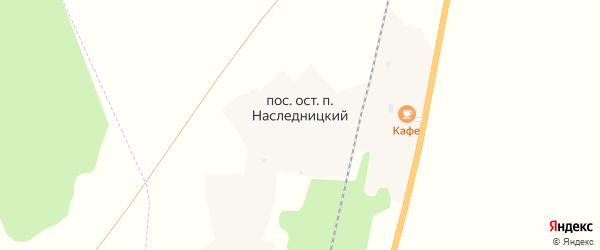 Целинный переулок на карте Наследницкого поселка с номерами домов