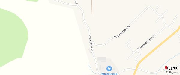 Заводская улица на карте Карабаша с номерами домов