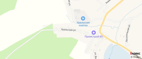 Уральская улица на карте Карабаша с номерами домов