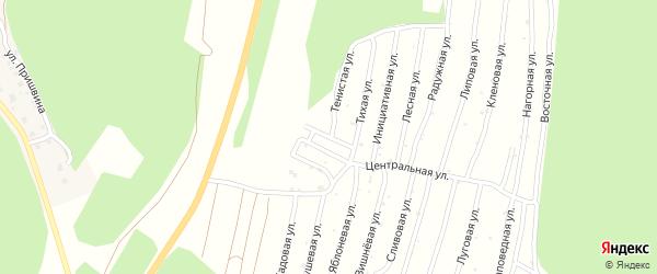 Улица Лучевая (СНТ Северный-2) на карте Миасса с номерами домов
