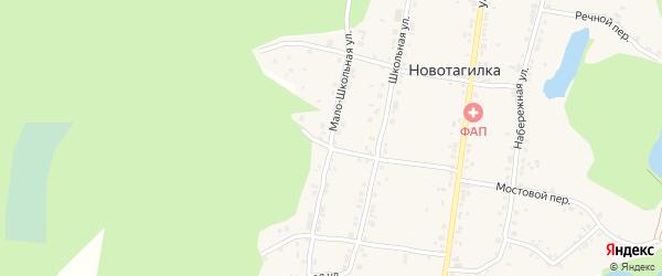 Мало-Школьная улица на карте поселка Новотагилки с номерами домов