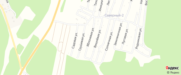 Улица Яблоневая (СНТ Северный-2) на карте Миасса с номерами домов