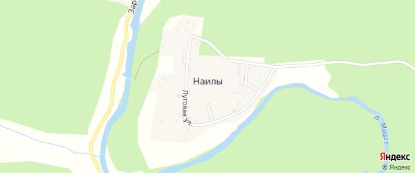 Узкий переулок на карте поселка Наилы с номерами домов