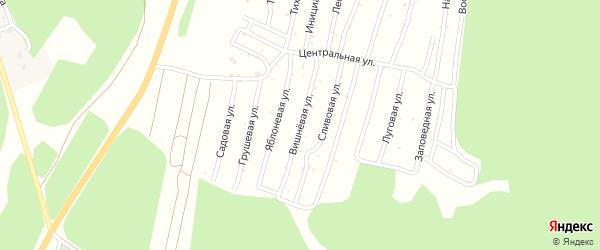 Вишневая улица на карте Миасса с номерами домов