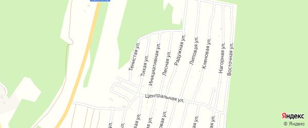Улица Инициативная (СНТ Северный-2) на карте Миасса с номерами домов