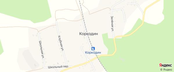 Станционная улица на карте поселка Коркодина с номерами домов