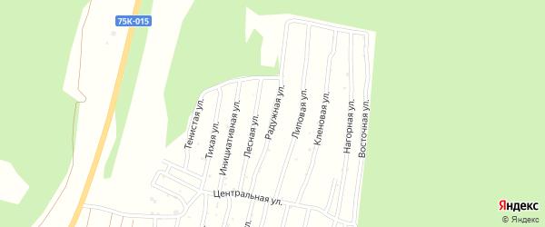 Радужная улица на карте Миасса с номерами домов