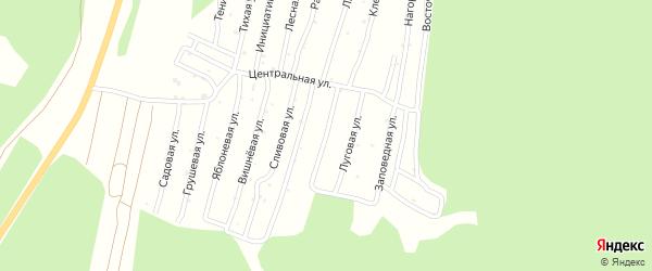 Улица Земляничная (СНТ Северный-2) на карте Миасса с номерами домов