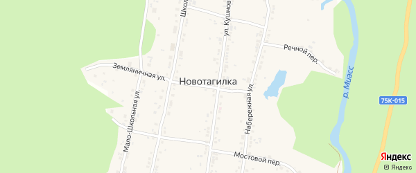 Степная улица на карте поселка Новотагилки с номерами домов