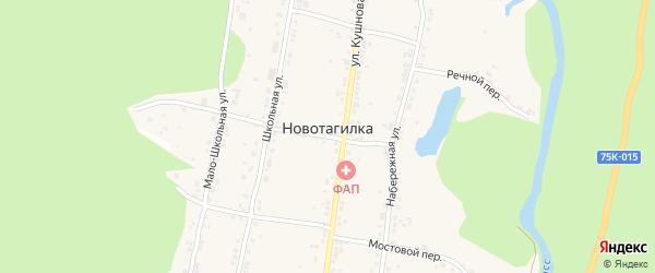 Заречная улица на карте поселка Новотагилки с номерами домов