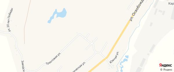 Горная улица на карте Карабаша с номерами домов