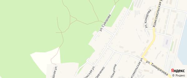 Улица Суворова на карте Карабаша с номерами домов