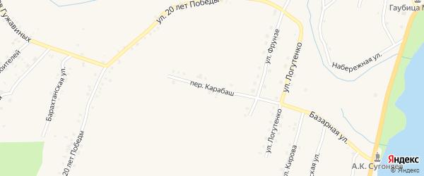 Переулок Карабаш на карте Карабаша с номерами домов
