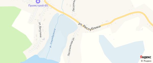 Лесопильная улица на карте Карабаша с номерами домов