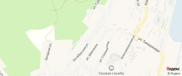 Октябрьская улица на карте Карабаша с номерами домов