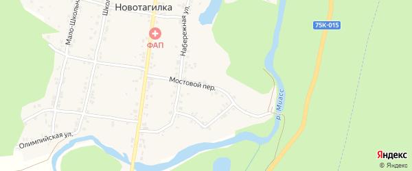Мостовой переулок на карте поселка Новотагилки с номерами домов