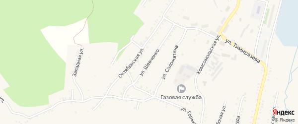 Улица Шевченко на карте Карабаша с номерами домов