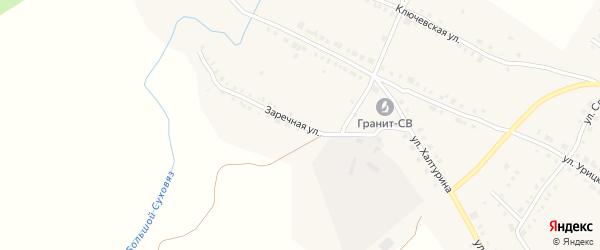 Заречная улица на карте Верхнего Уфалея с номерами домов