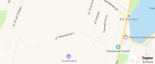 Улица Маяковского на карте Карабаша с номерами домов