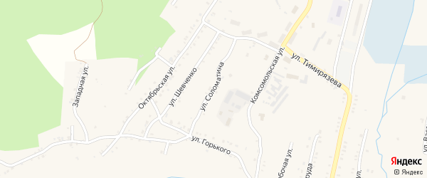 Улица Соломатина на карте Карабаша с номерами домов