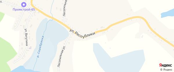 Улица Республики на карте Карабаша с номерами домов