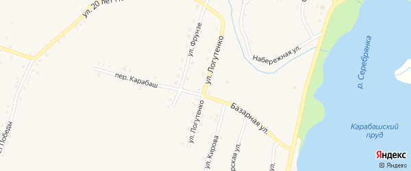 Улица Логутенко на карте Карабаша с номерами домов