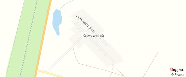 Целинная улица на карте Коряжного поселка с номерами домов