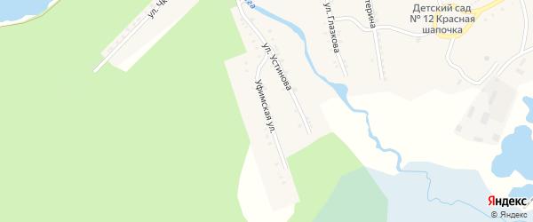 Уфимская улица на карте Карабаша с номерами домов