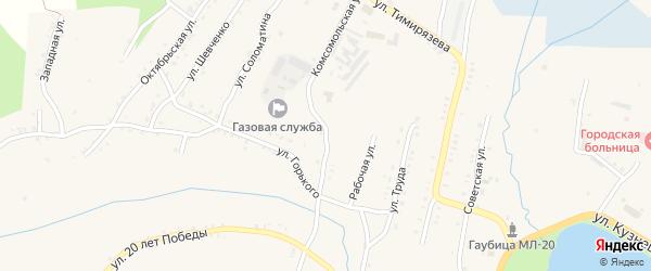 Улица Розы Люксембург на карте Карабаша с номерами домов