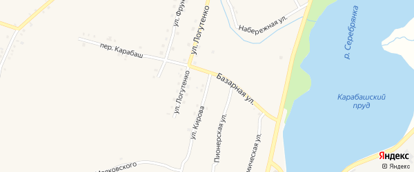 Улица Кирова на карте Карабаша с номерами домов