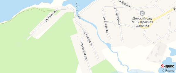 Улица Устинова на карте Карабаша с номерами домов