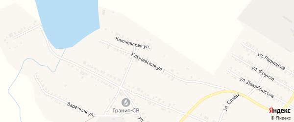 Ключевская улица на карте Верхнего Уфалея с номерами домов