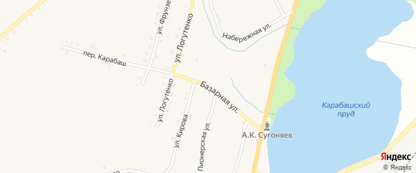 Базарная улица на карте Карабаша с номерами домов