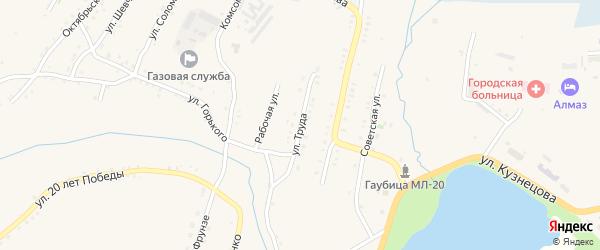 Улица Труда на карте Карабаша с номерами домов