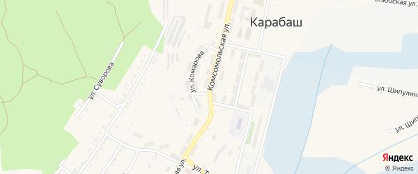 Комсомольская улица на карте Карабаша с номерами домов