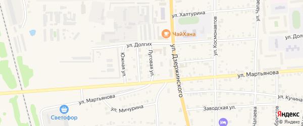 Луговая улица на карте Невьянска с номерами домов