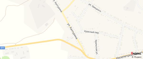 Улица Халтурина на карте Верхнего Уфалея с номерами домов