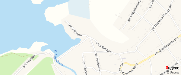 Улица 9 Января на карте Карабаша с номерами домов