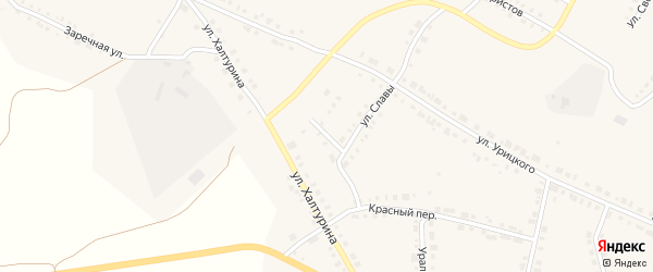 Улица Чехова на карте Верхнего Уфалея с номерами домов